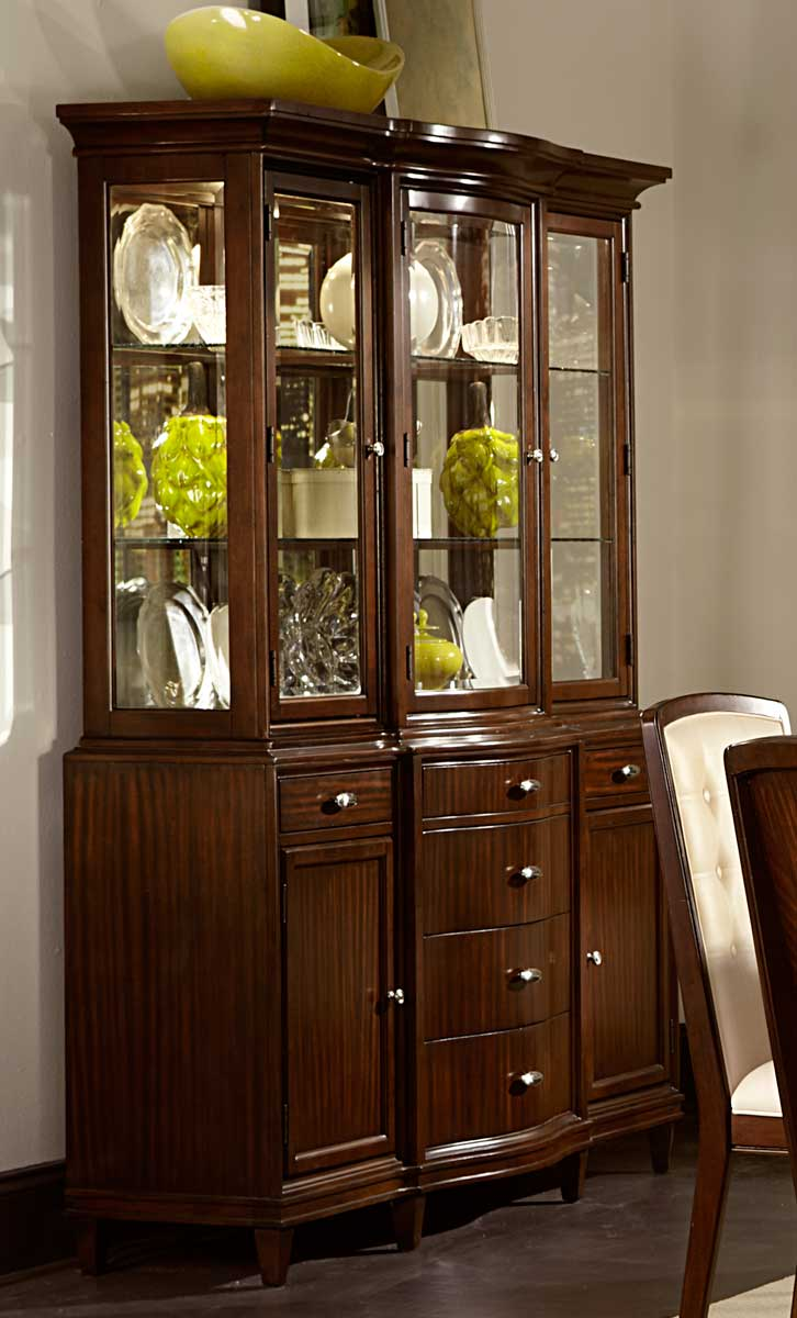 Homelegance Abramo China Cabinet - Sapele/Walnut Inlay