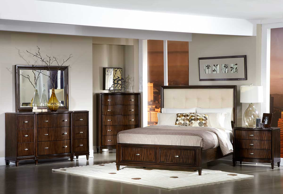 Homelegance Abramo Bedroom Set - Cream Linen