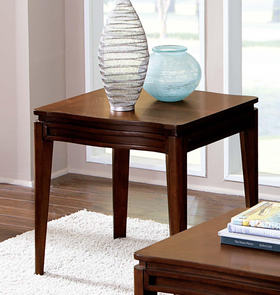 Homelegance Kasler End Table - Medium Walnut