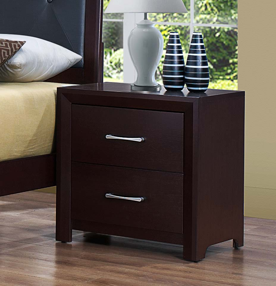 Charmant Homelegance Edina Night Stand   Brown Espresso