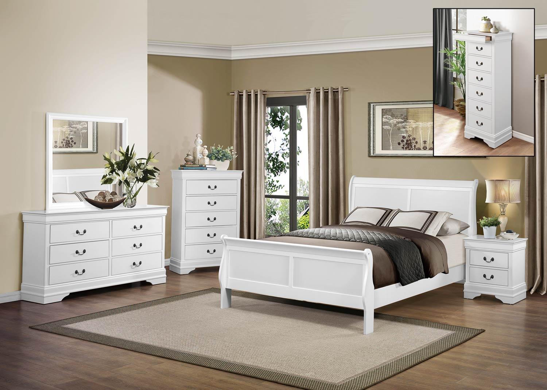 Homelegance Mayville Bedroom Set - White