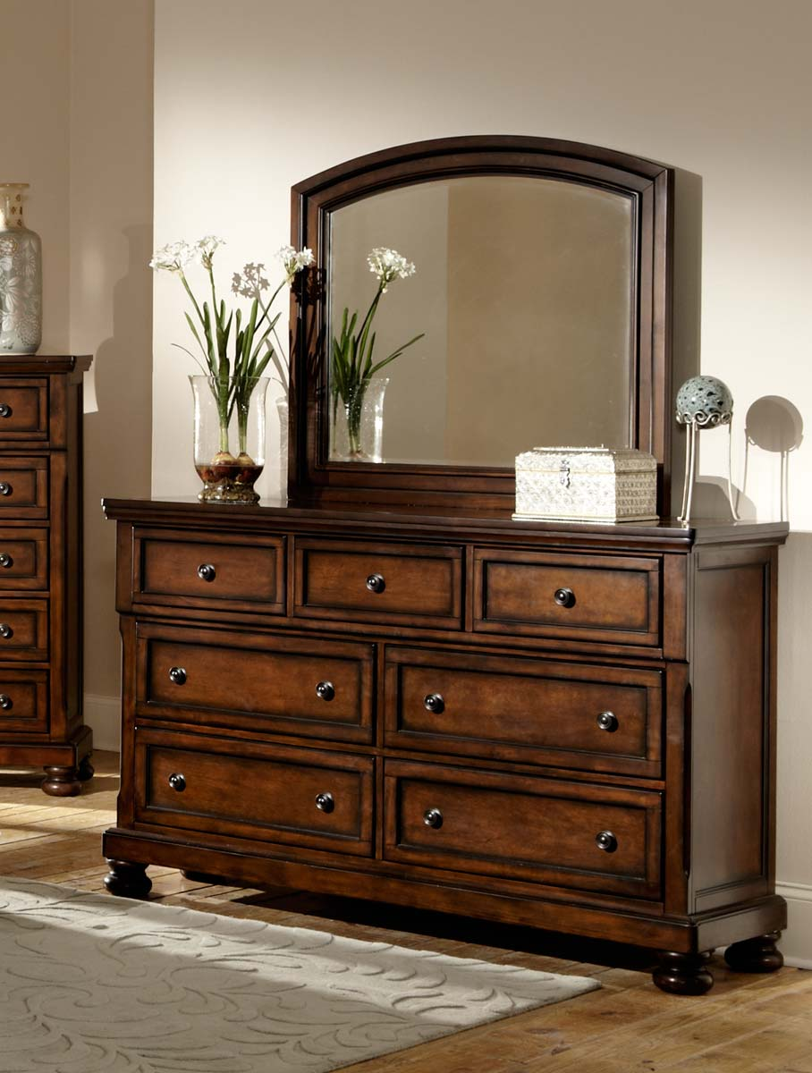Homelegance Cumberland Dresser - Brown Cherry