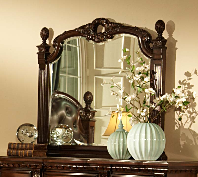 Homelegance Orleans Mirror - Cherry