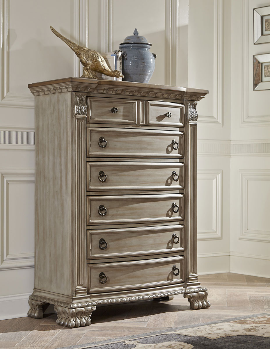 Homelegance Orleans II Chest - White Wash