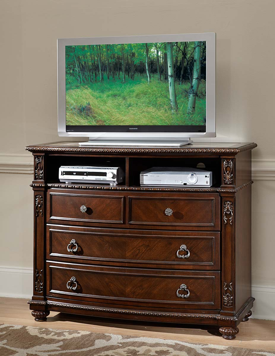 Homelegance Hillcrest Manor TV Chest - Cherry