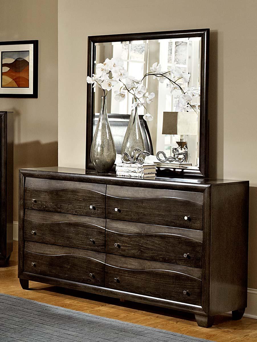Homelegance Redondo Mirror - Grey-toned Brown