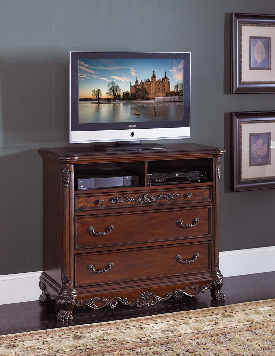 Homelegance Deryn Park TV Chest - Cherry
