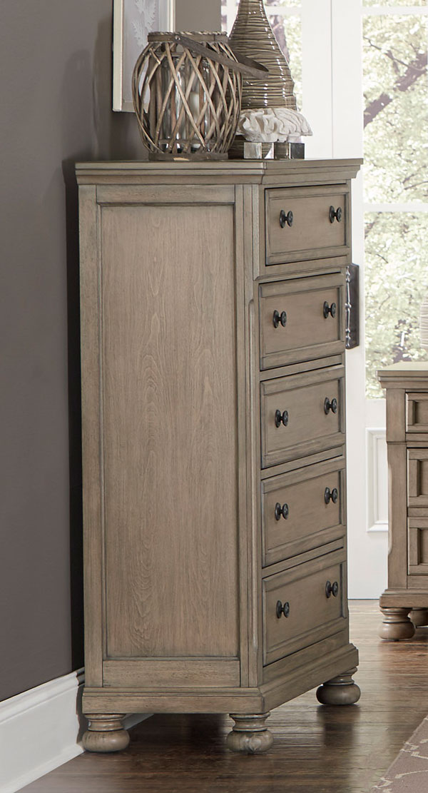 Homelegance Bethel Chest - Wire-brushed Gray