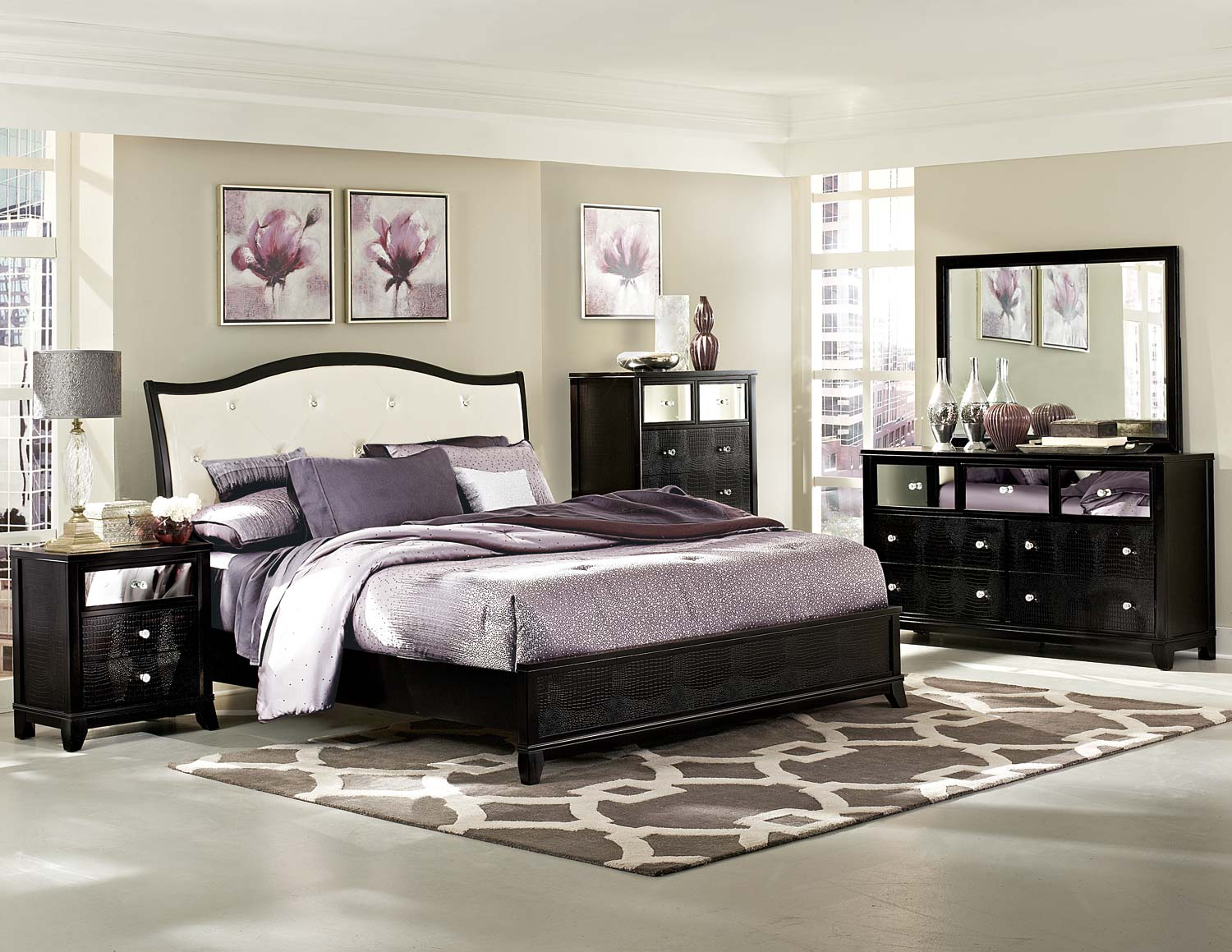 Inspiring Upholstered Bedroom Set Interior