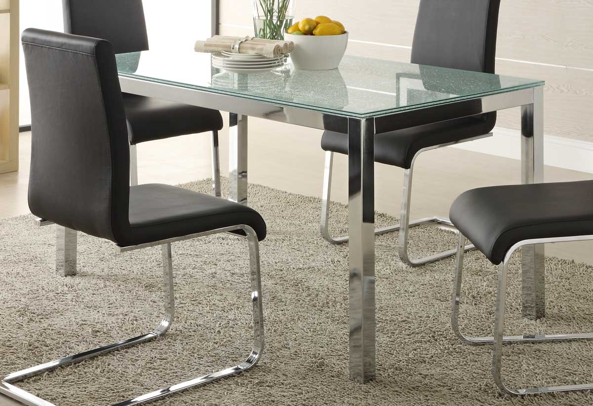 Homelegance Knox Glass Dining Table