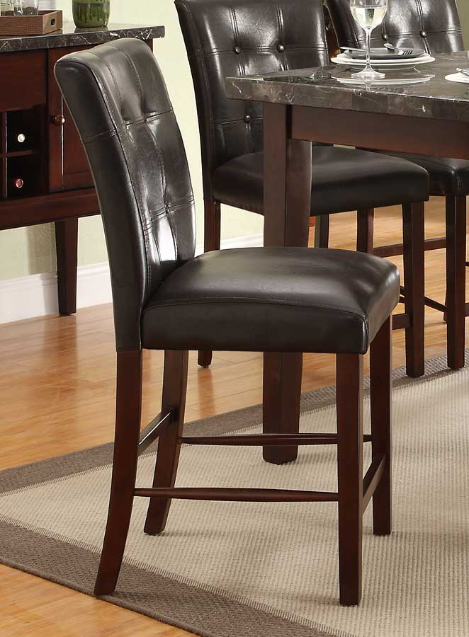 Homelegance Decatur Counter Height Chair - Rich Cherry