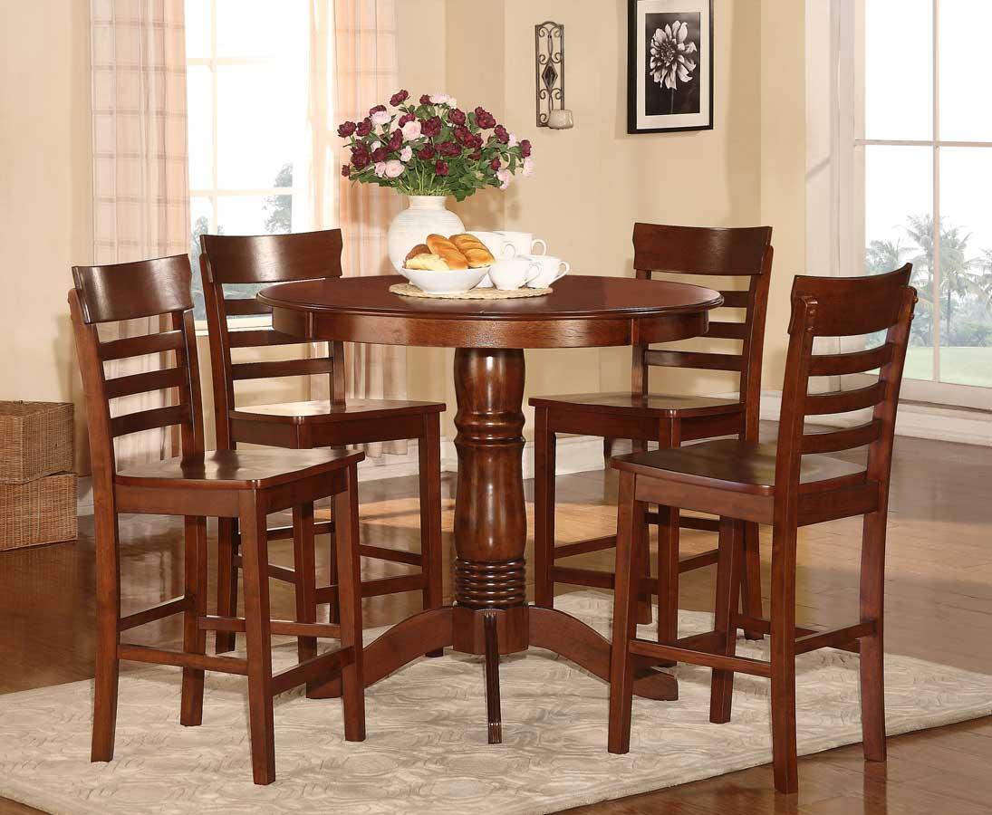 Homelegance Wayland 5-Piece Counter Height Dining Set - Antique Oak