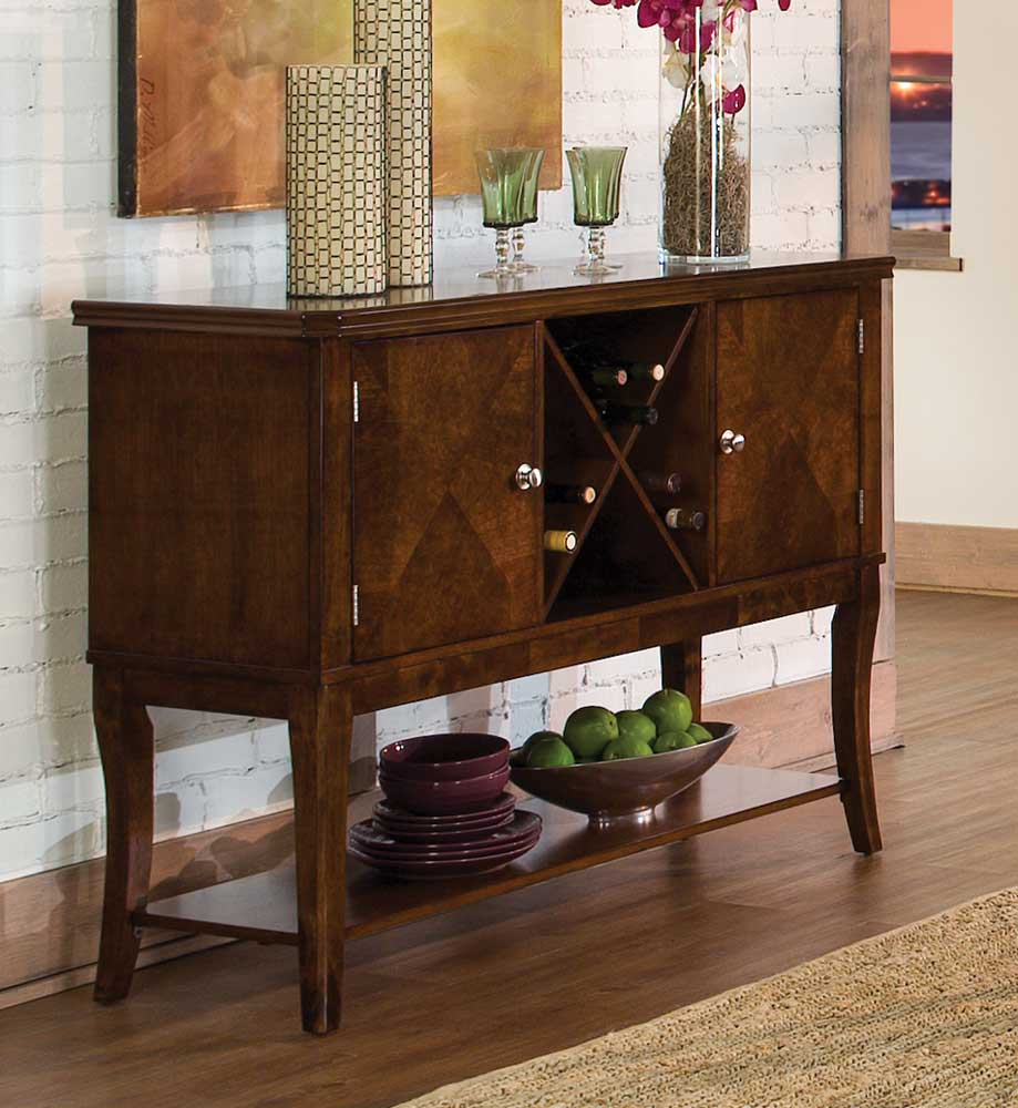 Homelegance Alita Server - Warm Cherry