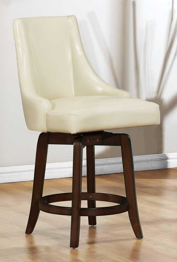 Homelegance Annabelle Swivel Counter Height Chair - Cream