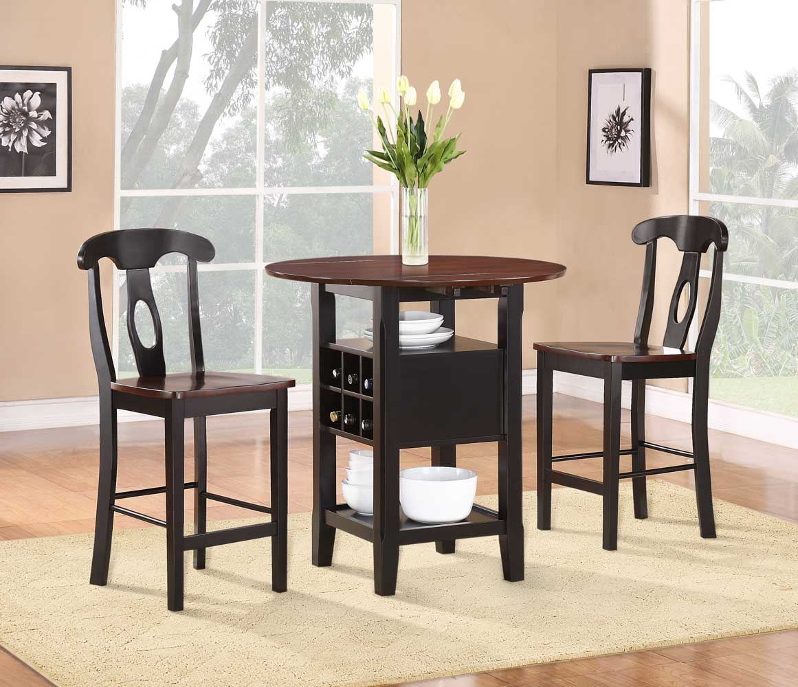 Homelegance Atwood 3-Piece Counter Height Dining Set & Homelegance Atwood 3-Piece Counter Height Dining Set 2505BK-36 ...