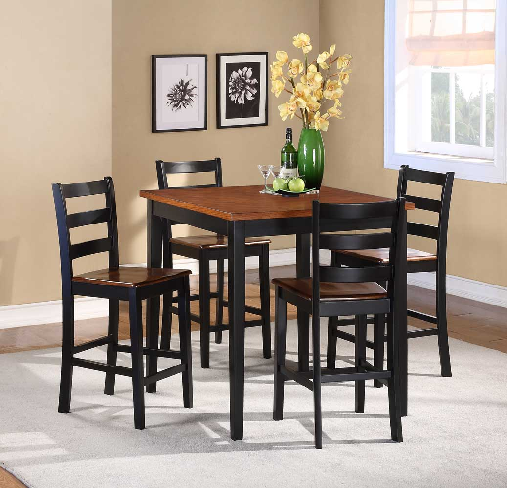 Homelegance Lynn 5-Piece Counter Height Dining Set & Homelegance Lynn 5-Piece Counter Height Dining Set 2506BK-36 ...