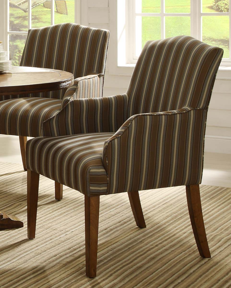 Homelegance Euro Casual Arm Chair - Rustic Oak - Upholstered
