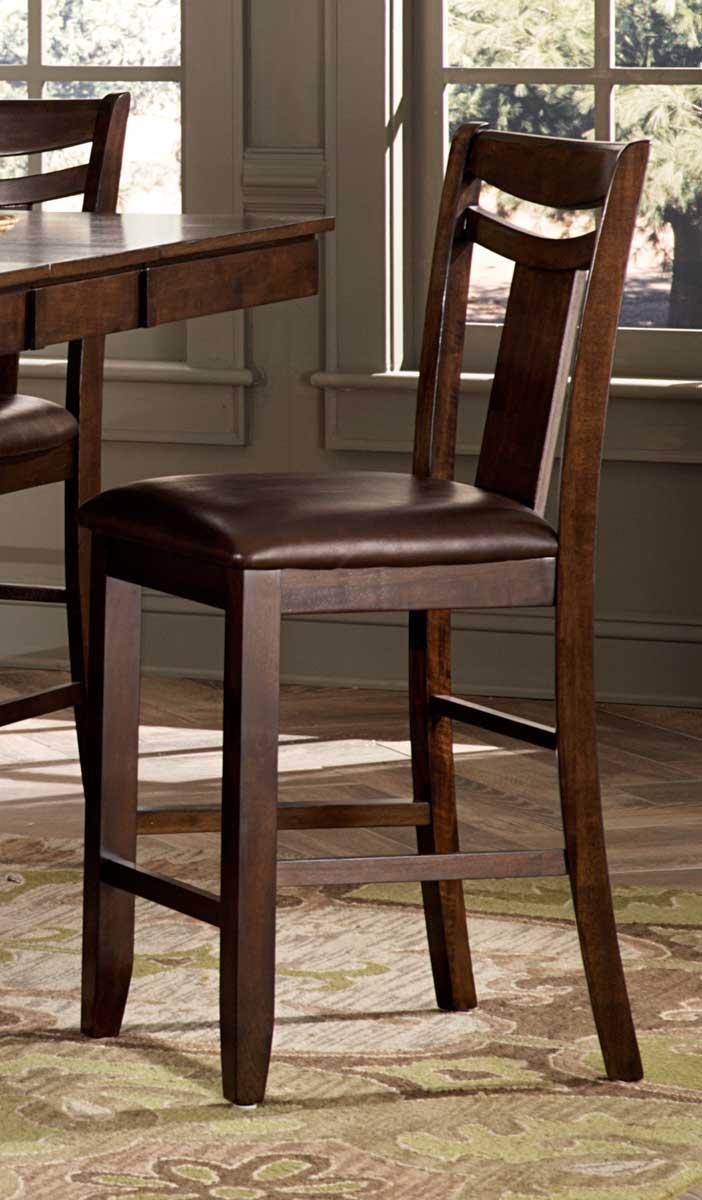 Homelegance Broome Counter Height Chair - Dark Brown - Brown Bi-cast Vinyl