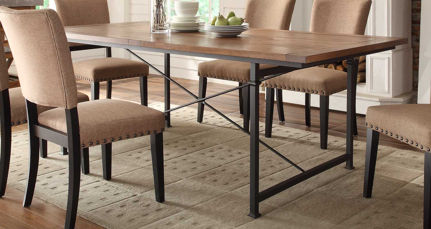 Homelegance Derry Dining Table - Rustic Oak
