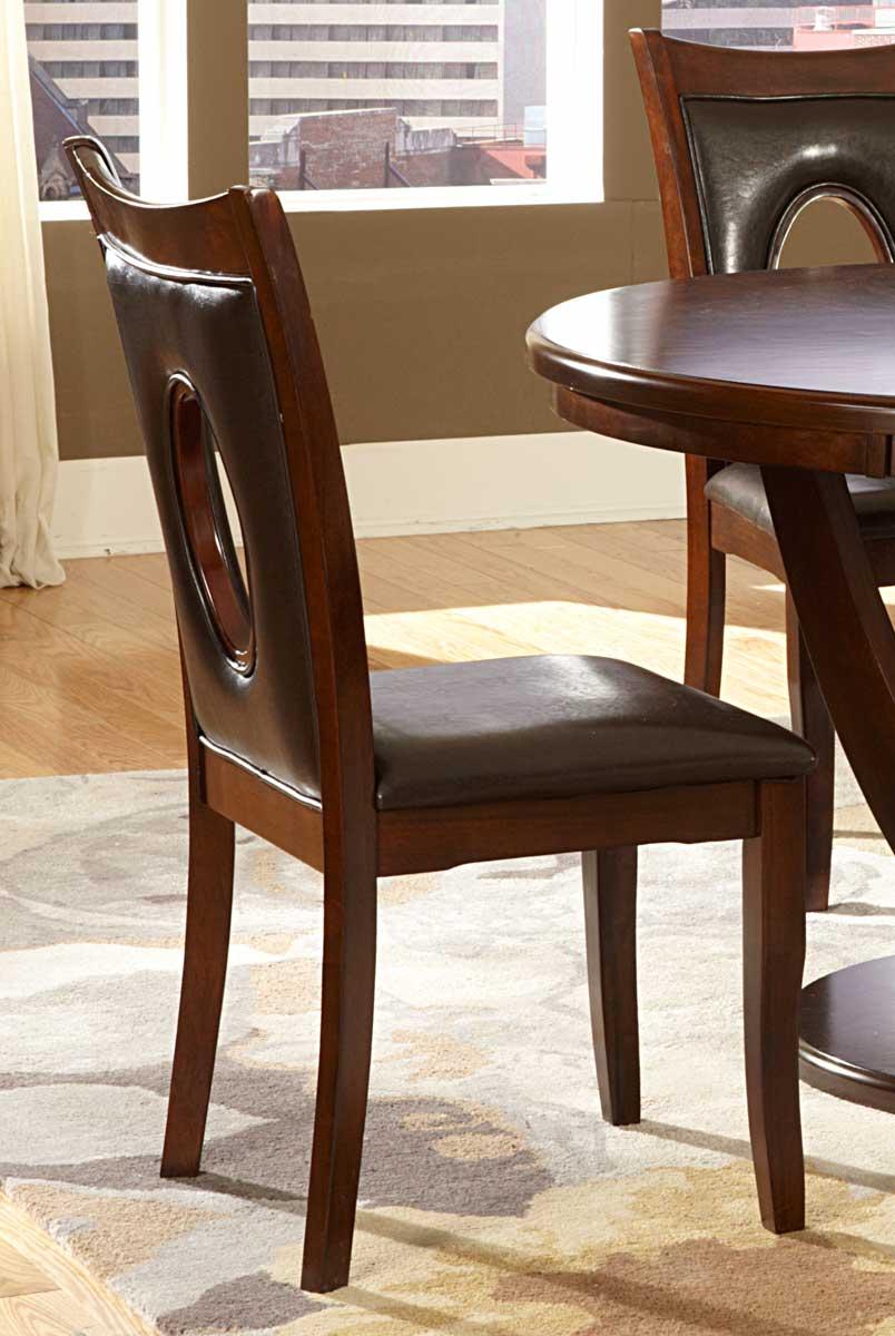 Homelegance VanBure Side Chair - Dark Brown - Bi-Cast Vinyl