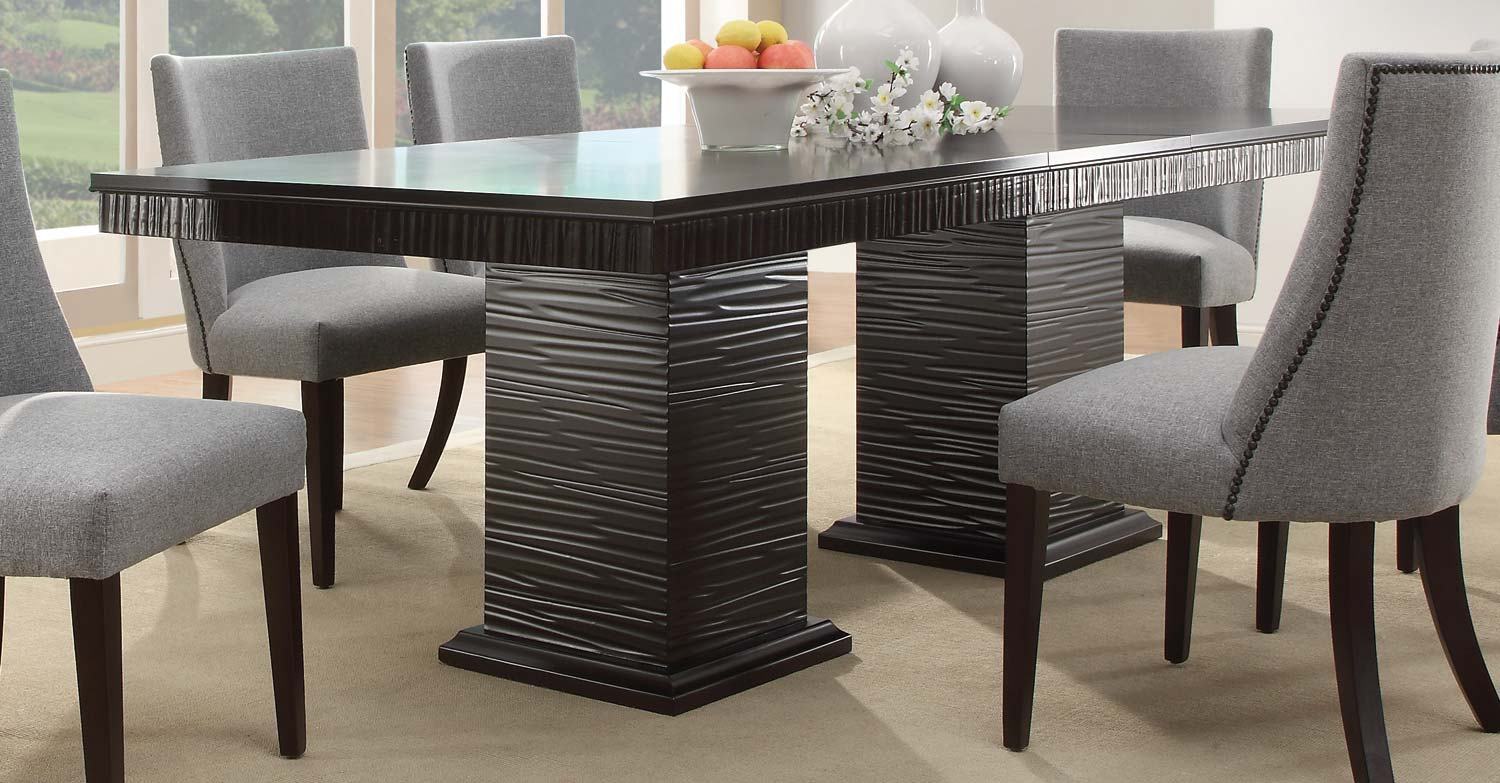 Amazing Homelegance Chicago Dining Table   Espresso