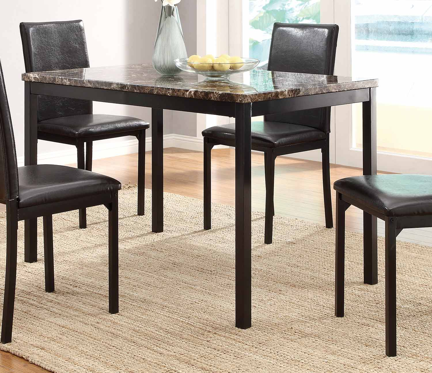 Counter Height Metal Table : Homelegance Tempe Counter Height Dining Set - Black Metal 2601-Counter ...
