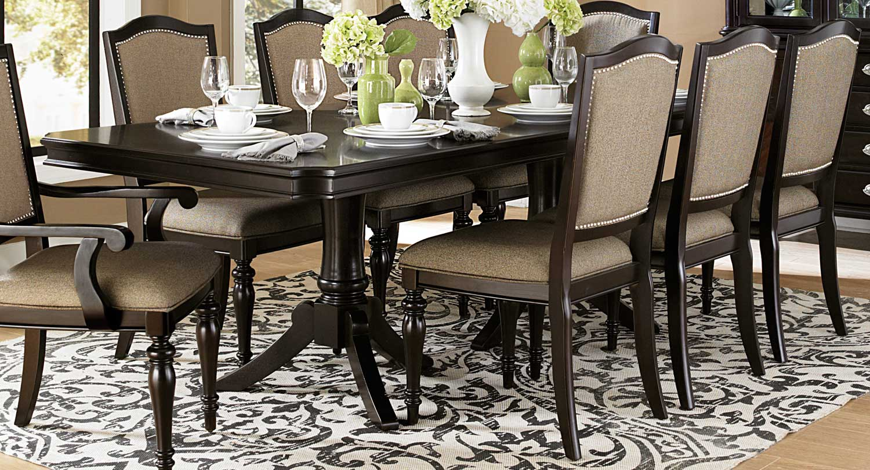 Homelegance Marston Double Pedestal Dining Table - Dark Cherry