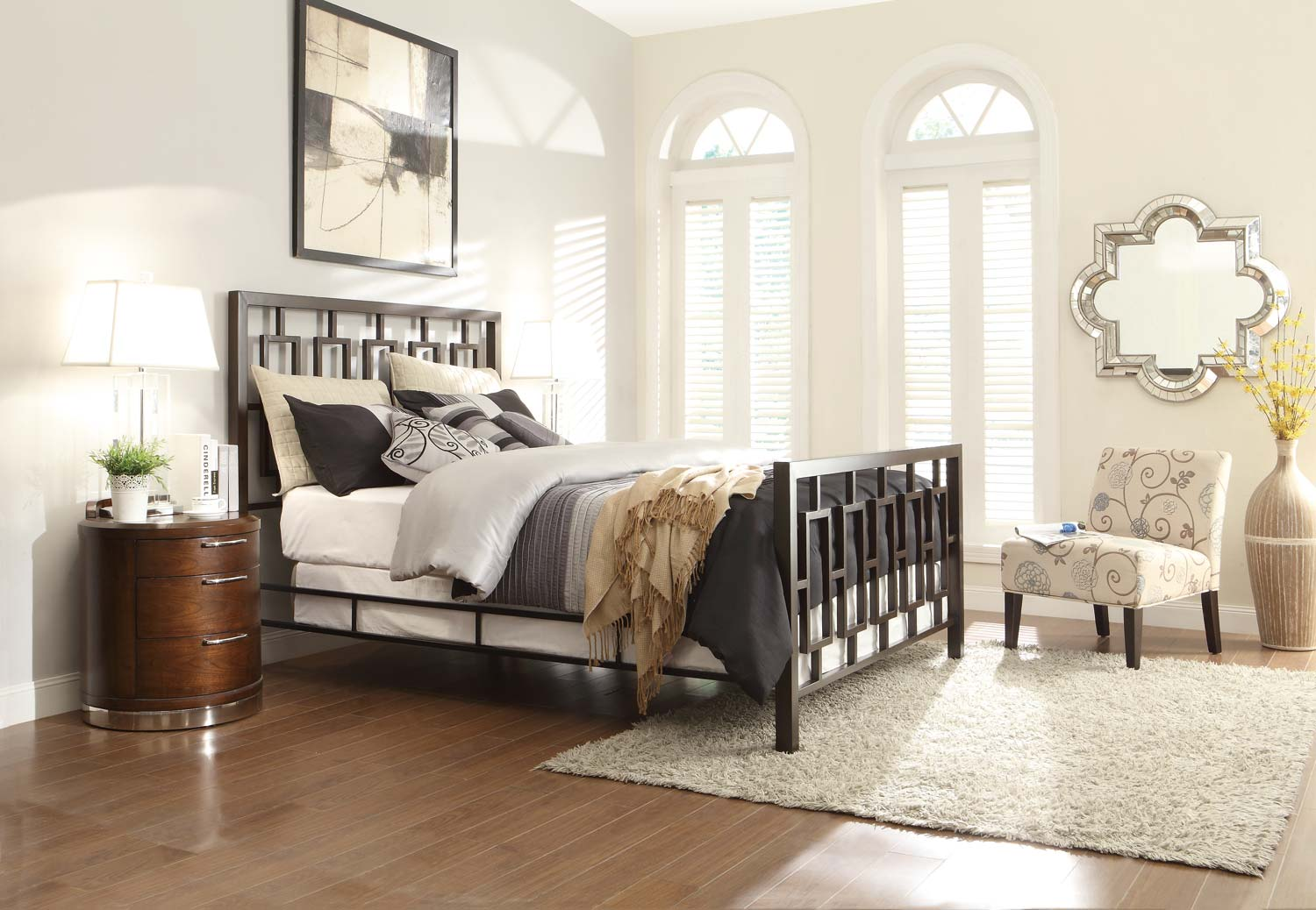 Homelegance Zelda Brushed Brown Metal Bedroom Collection