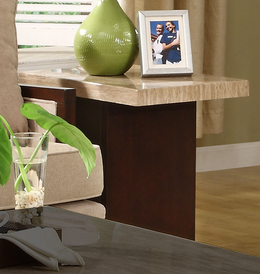 Homelegance Schmid End Table - Faux Marble