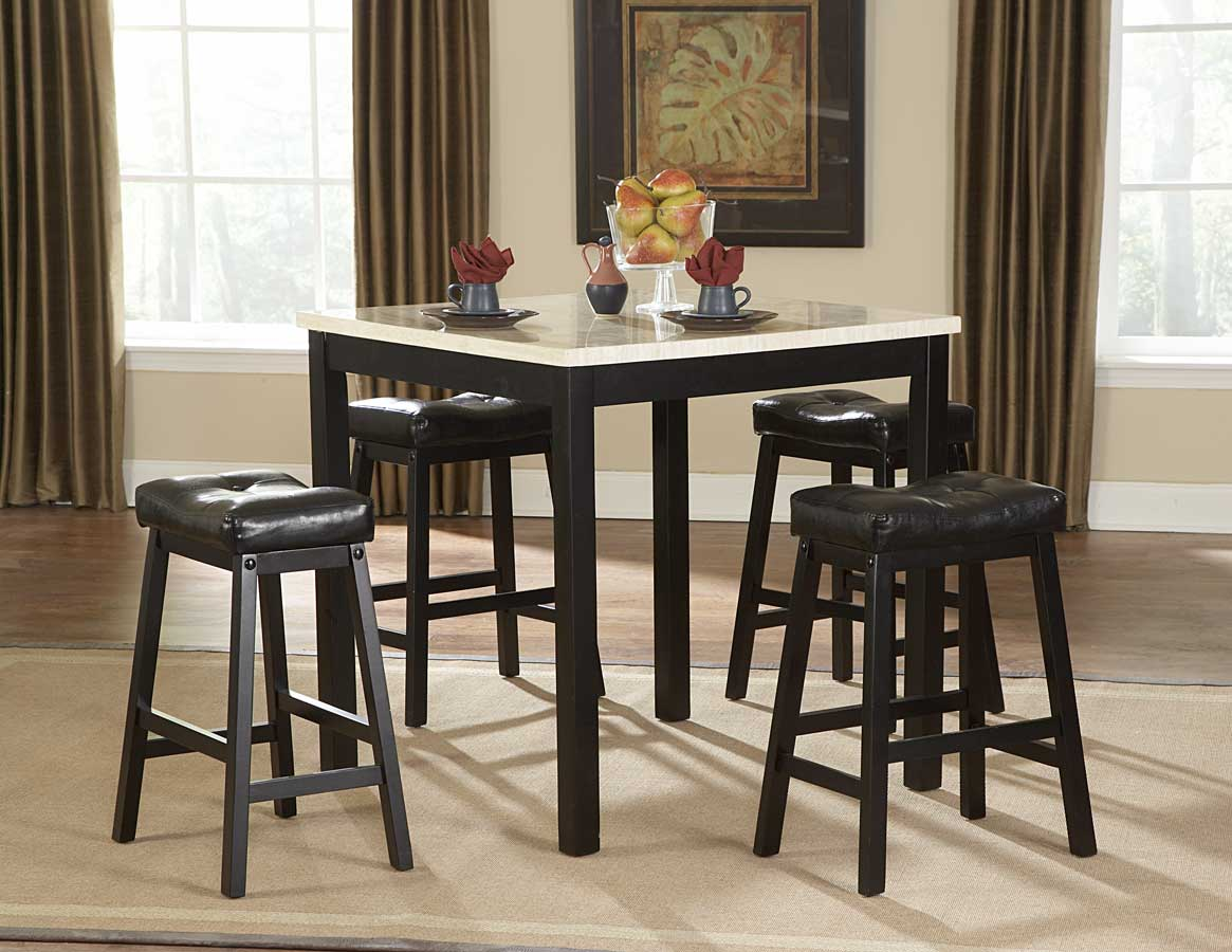 Homelegance Archstone 5-Piece Counter Height Dining Set with Faux ...