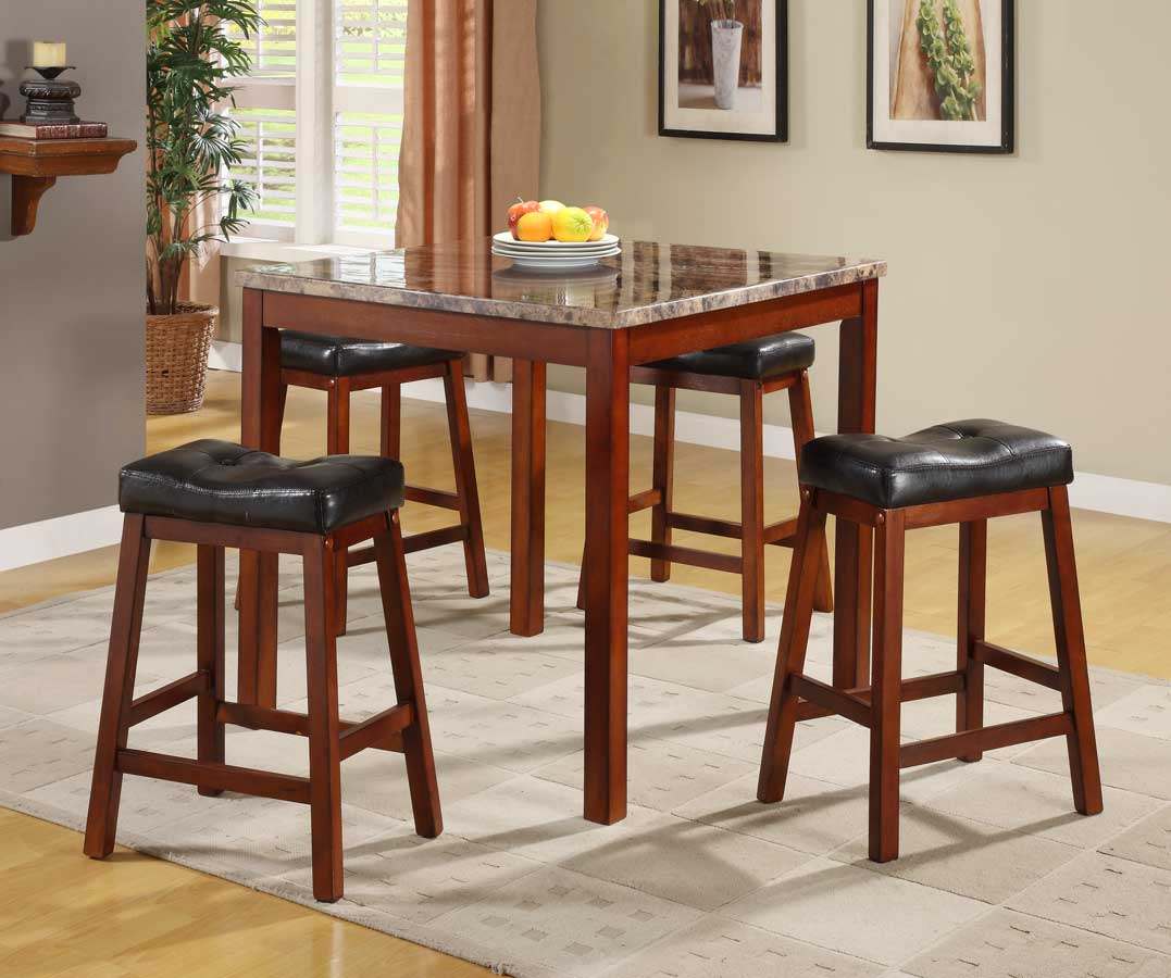 Homelegance Achillea Piece Counter Height Dining Set With Faux - Marble counter high dining table