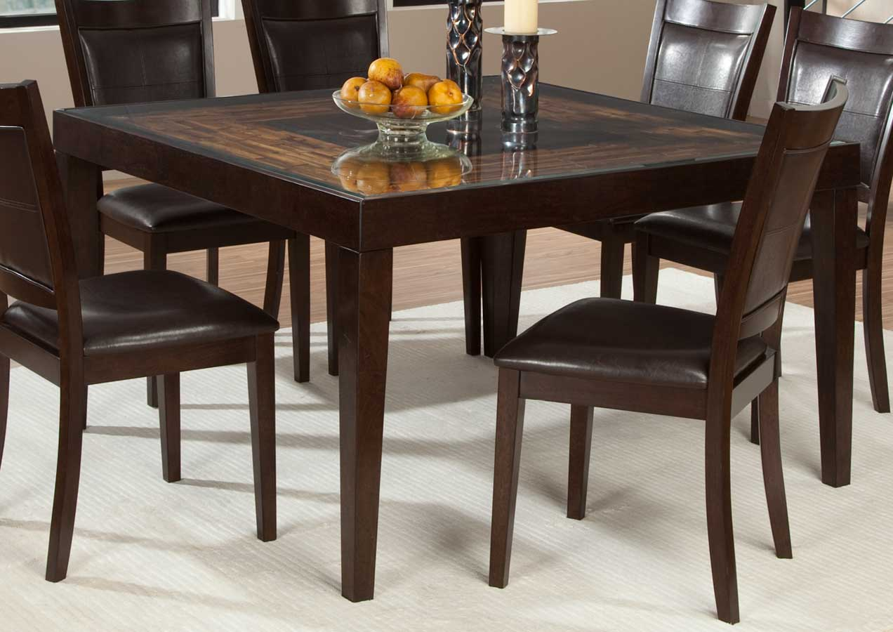 Homelegance Vincent Square Dining Table Mango And Acacia Wood - Small square breakfast table