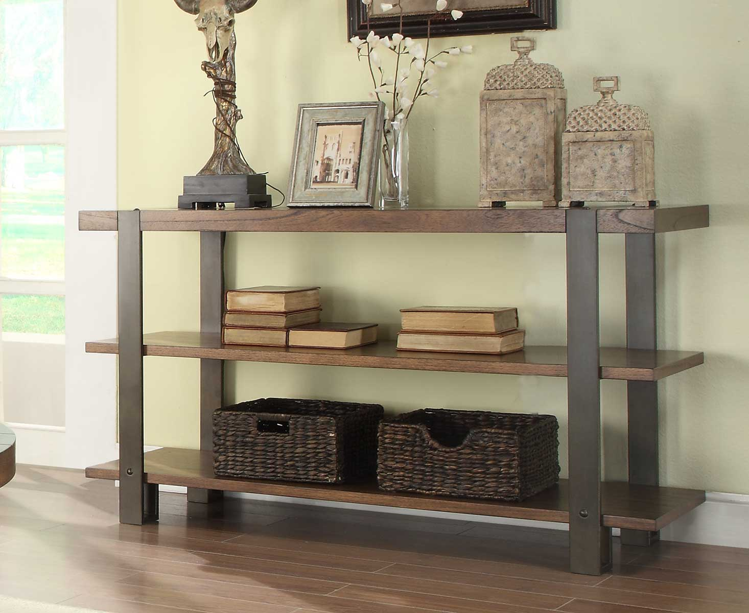 Homelegance Northwood Sofa Table - Natural Brown