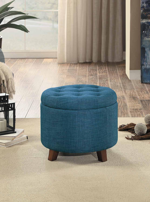 Homelegance Cleo Storage Ottoman - Blue