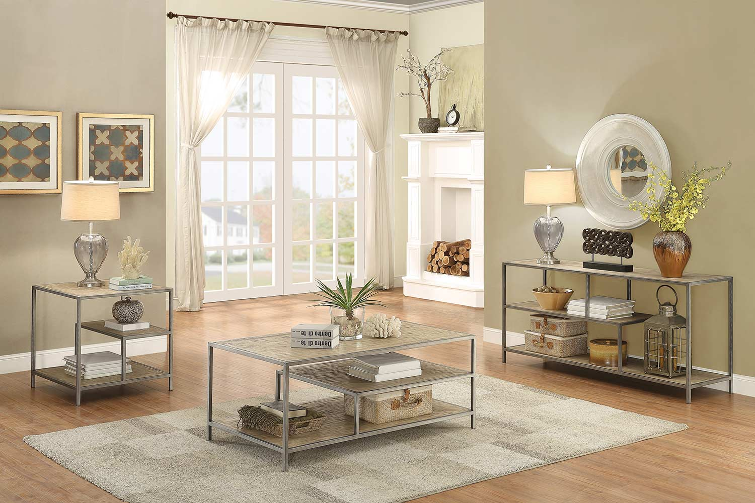 Homelegance Xaria Coffee/Cocktail Table Set