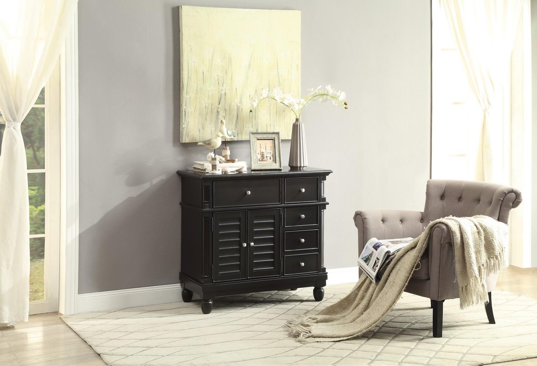 Homelegance Lourdes Cabinet - Black