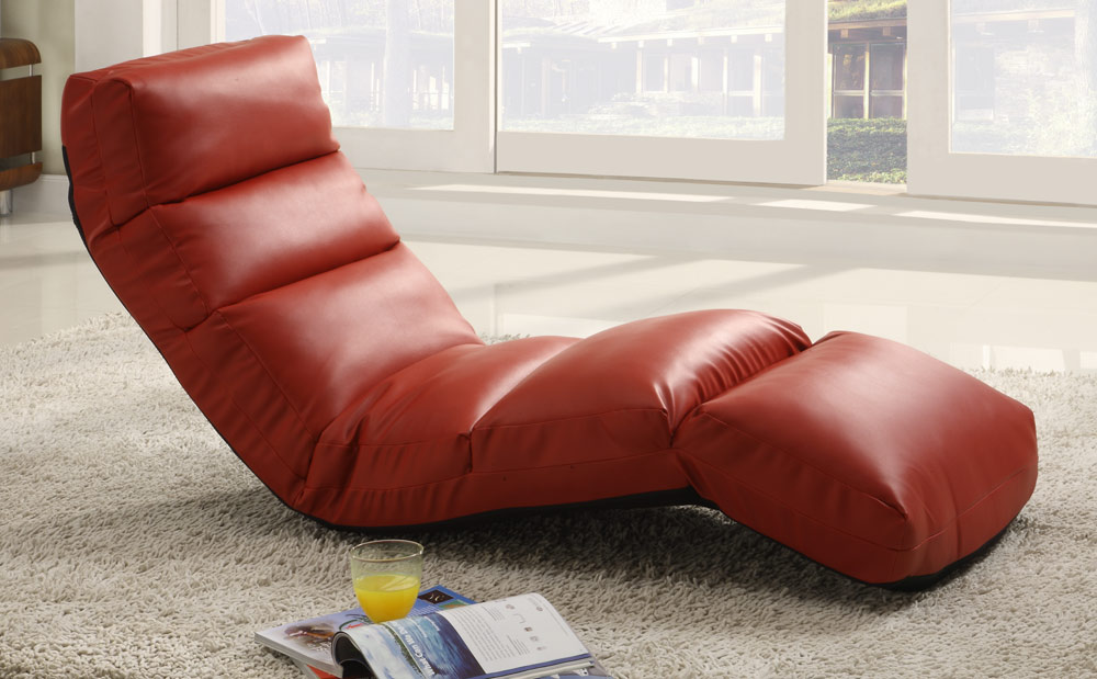 Charmant Homelegance Gamer Floor Lounger Chair   Red Leatherette