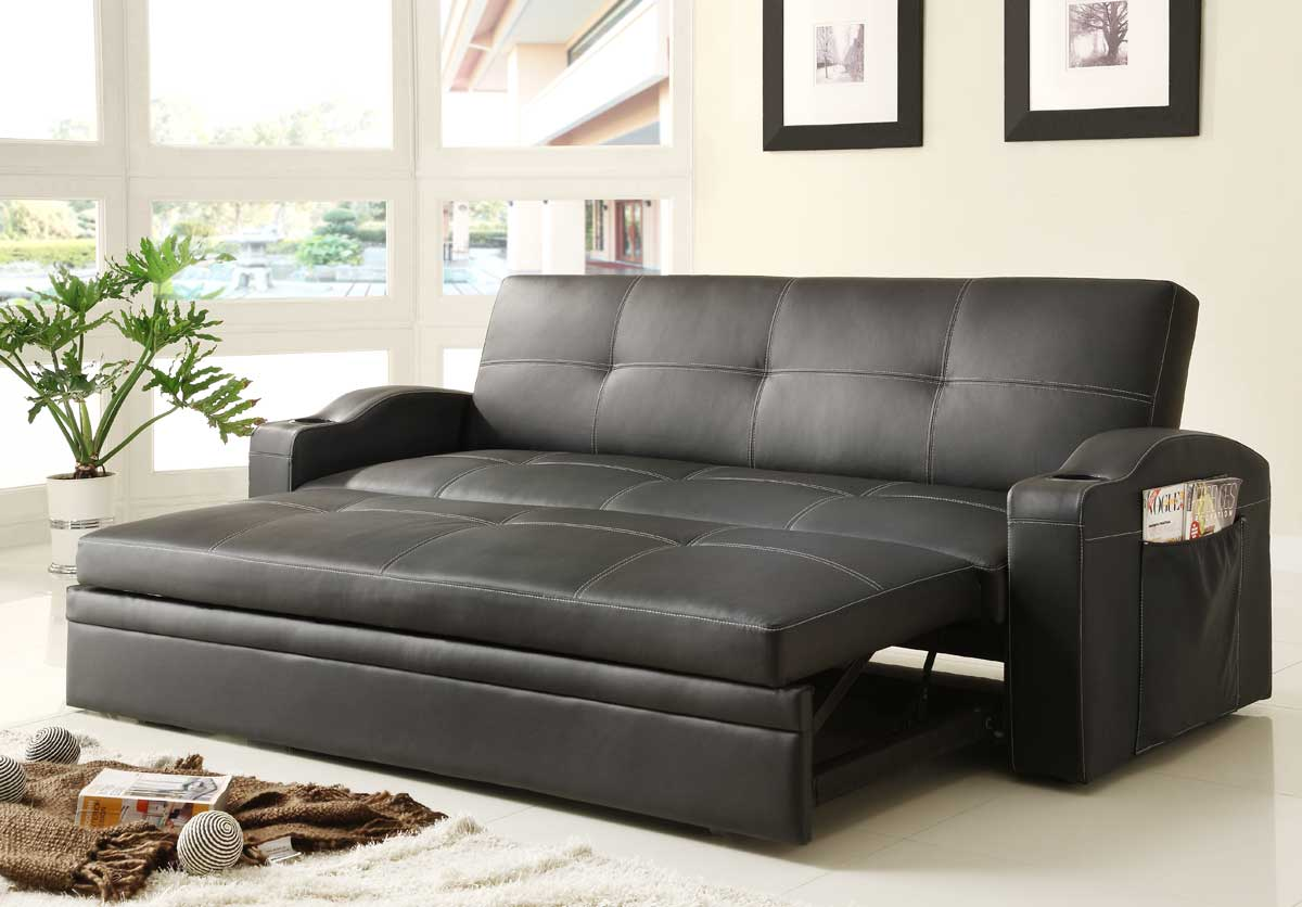 homelegance novak elegant lounger sofa with pull out. Black Bedroom Furniture Sets. Home Design Ideas