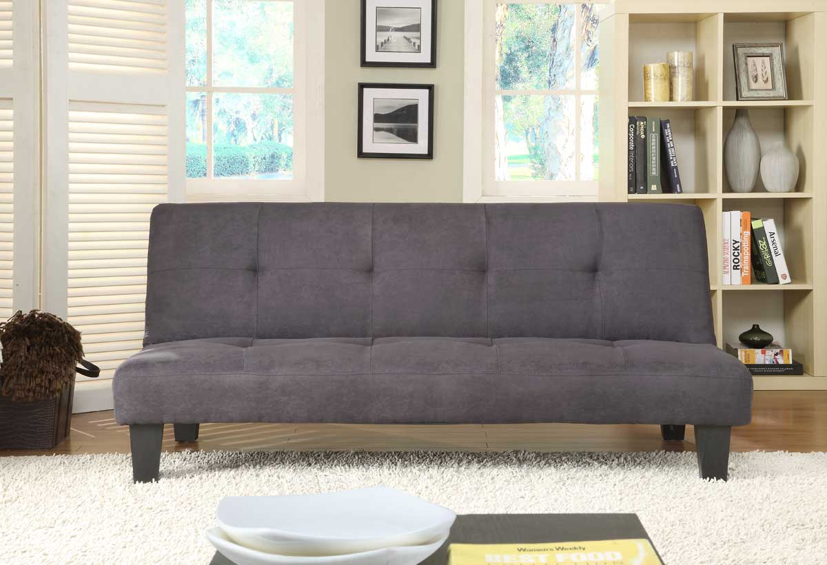 Homelegance Albert Elegant Lounger Sofa Bed - Black Microfiber