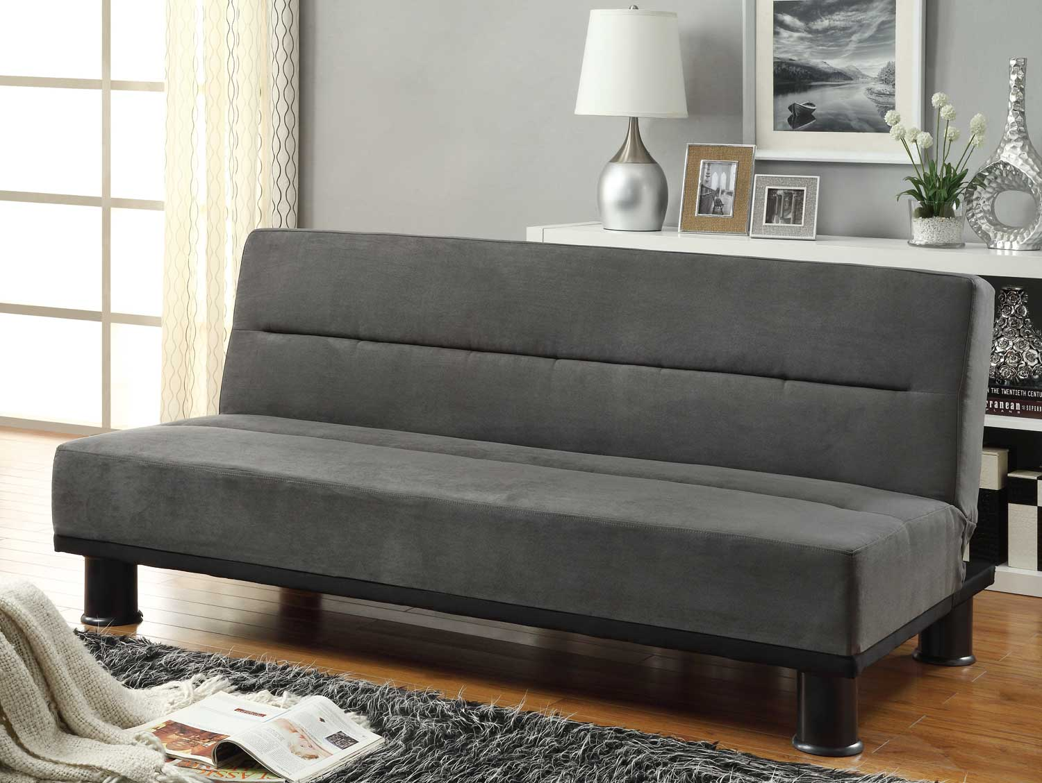 Homelegance Callie Click Clack Sofa Bed Graphite Grey Microfiber