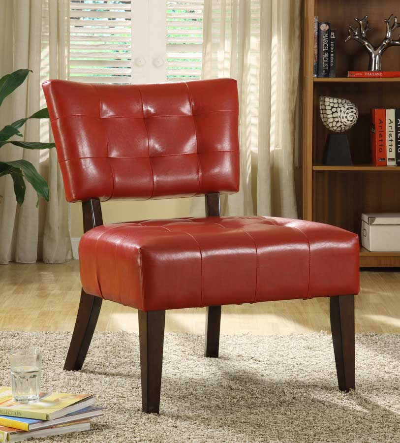 Homelegance Warner Accent Chair - Lava Red