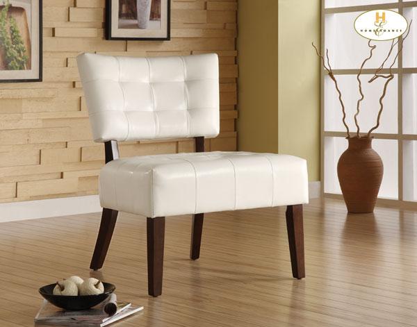 Homelegance Warner Accent Chair - White