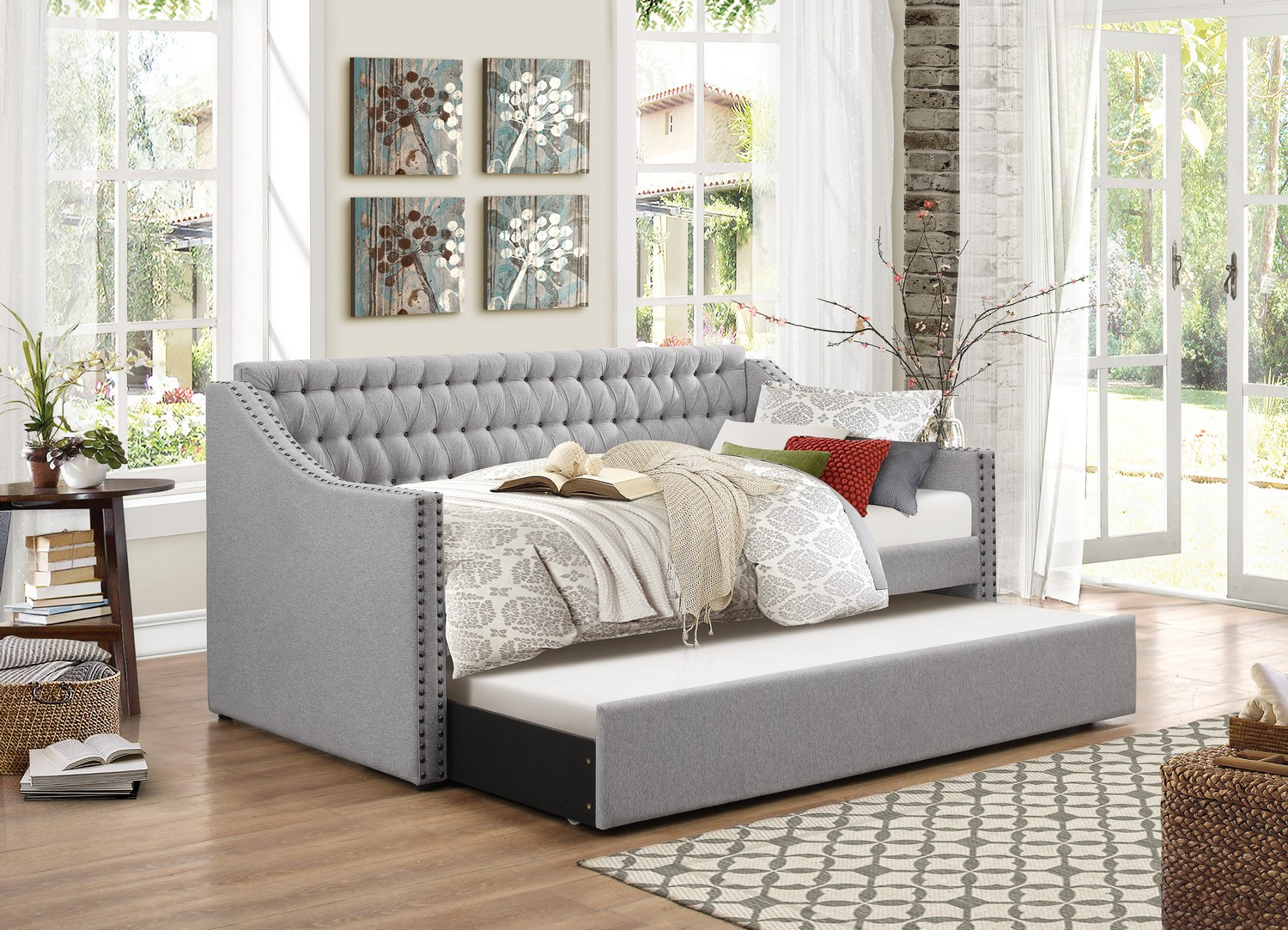 Homelegance Tulney Daybed with Trundle - Grey