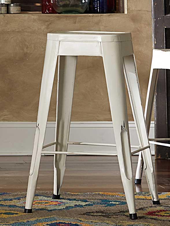Homelegance Amara 29in Metal Bar Stool - White