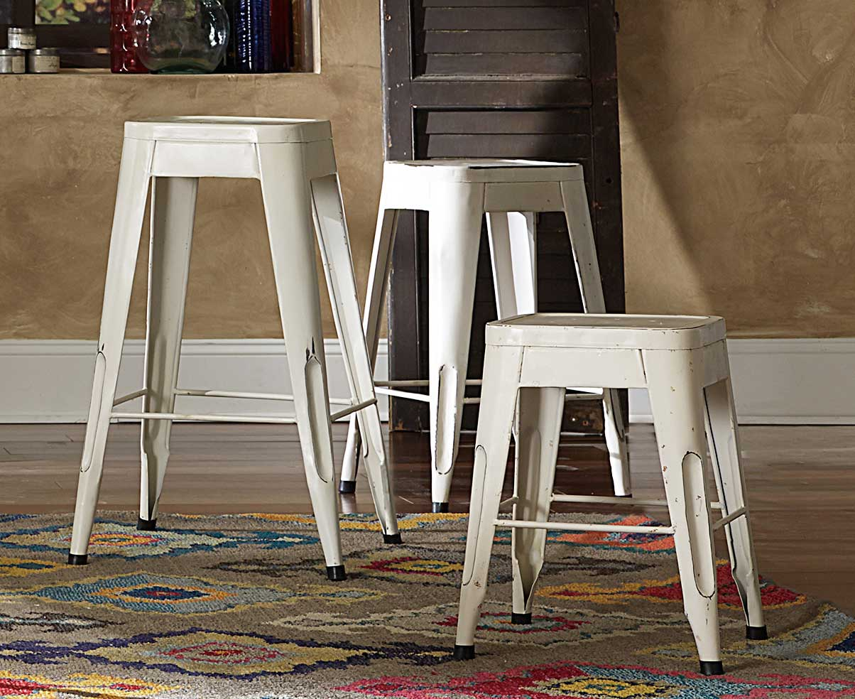 Homelegance Amara 24in Metal Counter Stool White