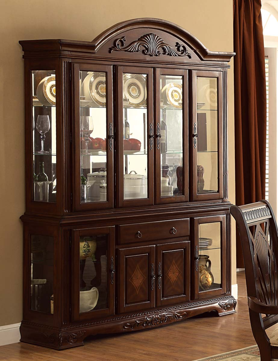 Homelegance Norwich China Cabinet - Warm Cherry