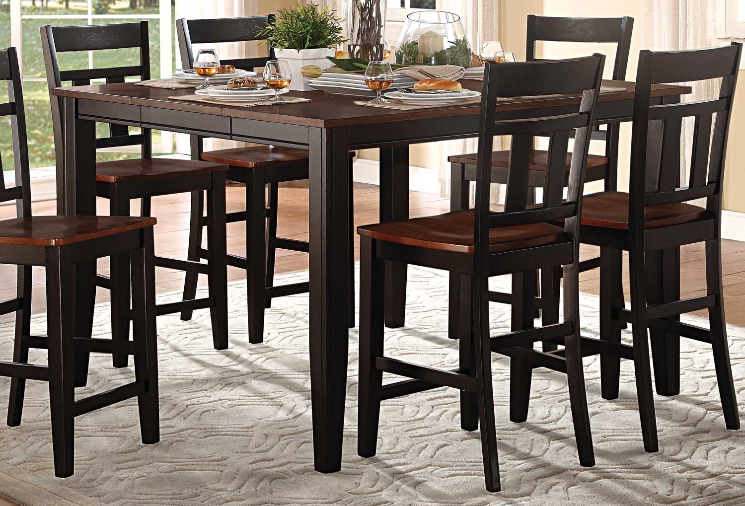 Homelegance Westport Counter Height Table Two Tone Blackcherry - Counter height table for two