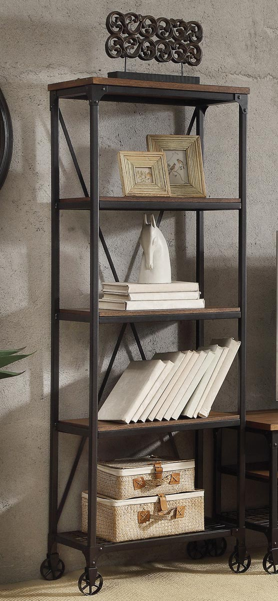 Homelegance Millwood 26-inch Bookshelf - Distressed Ash