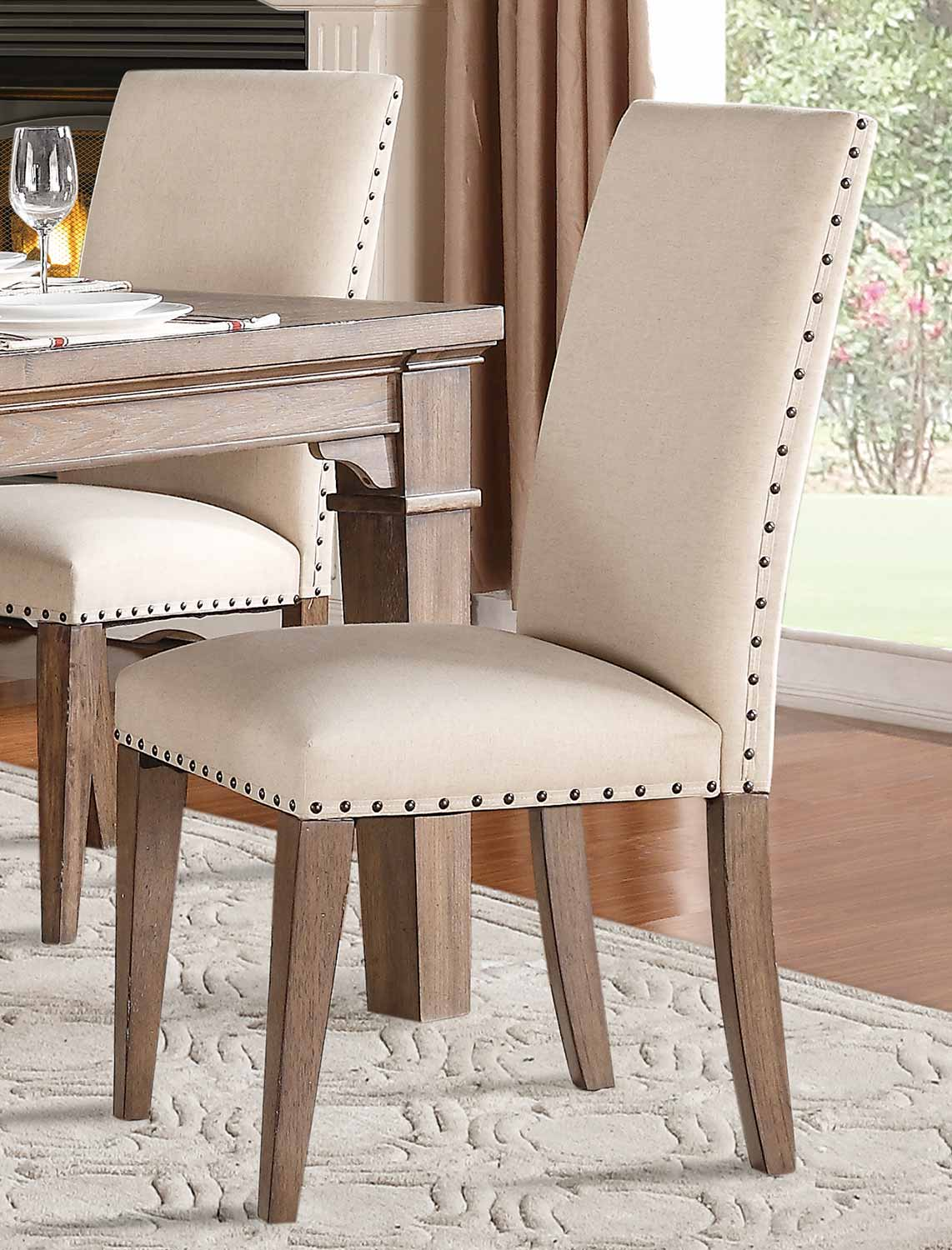 Homelegance Mill Valley Side Chair   Weathered Wash