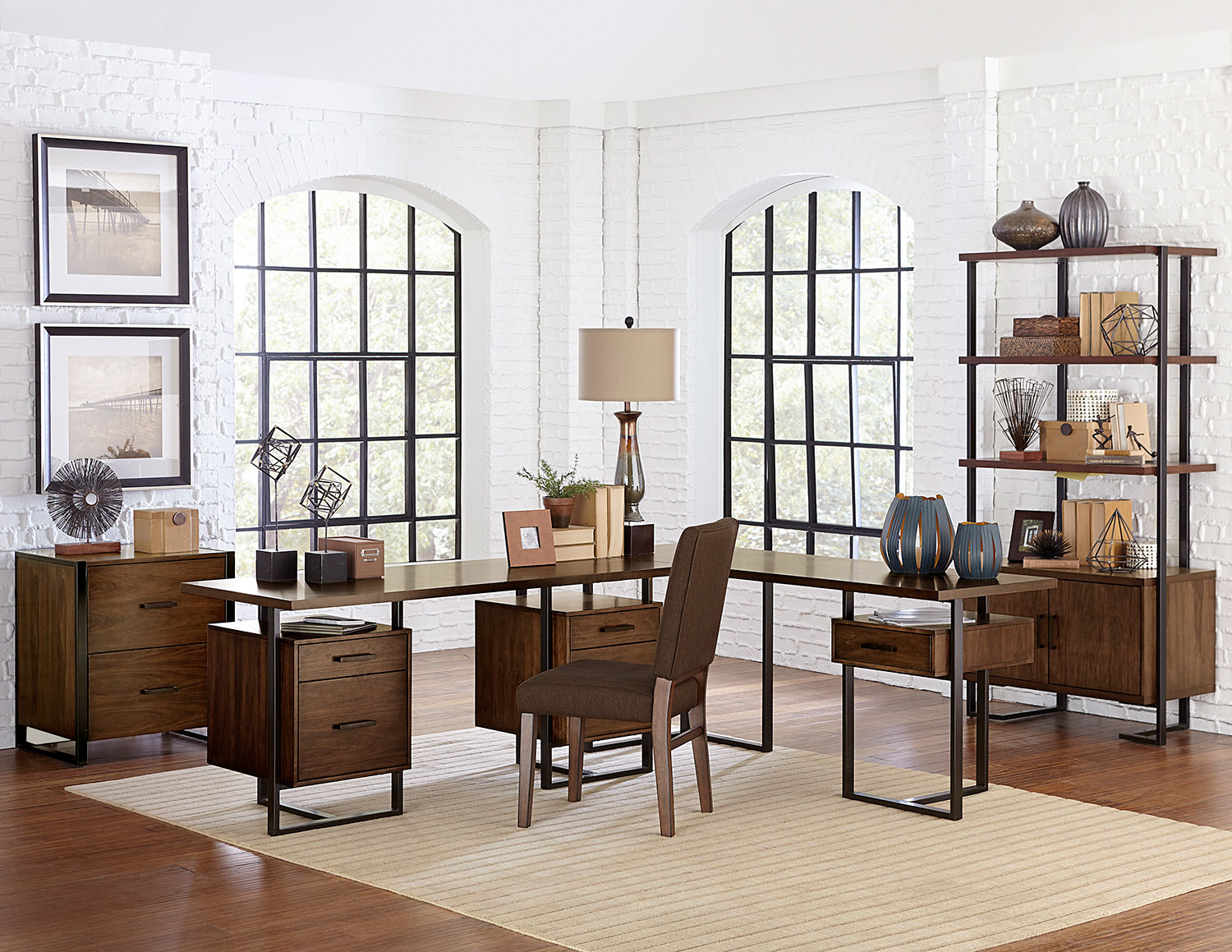 Beau Homelegance Sedley Home Office Set   Walnut